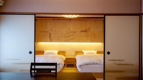 【訳あり】数奇屋造りベッド付和室(8畳+6畳)風呂無