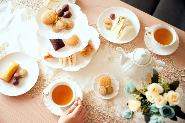 【アフタヌーンティープラン】英国王室に愛用されている高級紅茶をご提供!お部屋で優雅なひと時を