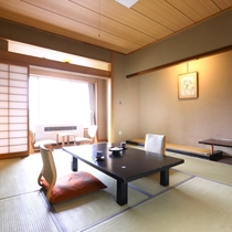 【昔心閣・客室一例】落ち着きある和の空間、温泉を楽しむのにぴったりのお部屋