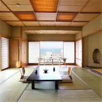【今心閣・諏訪湖眺望】広々と明るく開放感に溢れた絶景客室