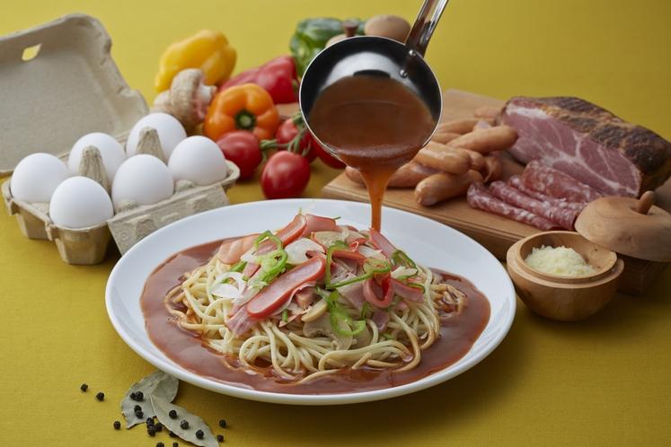 ヨコイあんかけスパゲッティ(食事例)