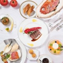 【ご夕食】自慢のフランス料理フルコース