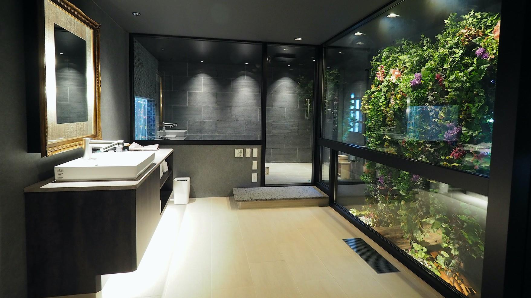 浴室フラワーアート