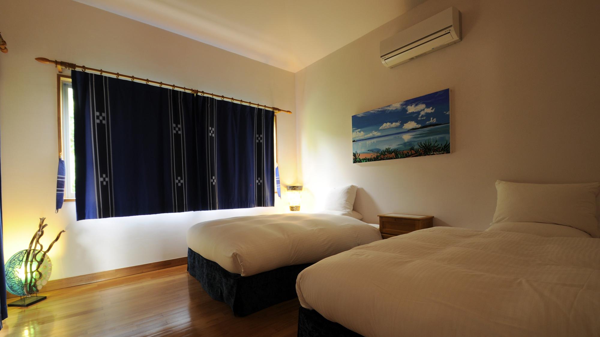 【寝室】エステの効果は翌朝のすっきりした目覚めで実感できるかもしれません
