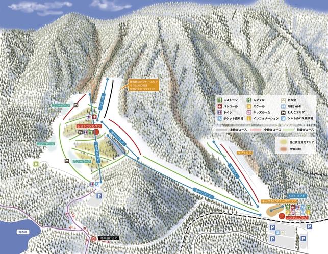 さのさかスキー場MAP