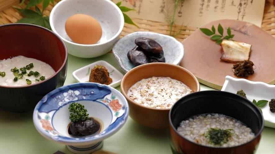 ご朝食:当館自慢の「幸せの笊盛り御膳」