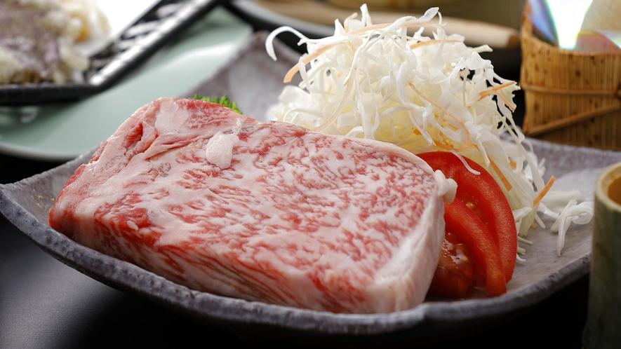 A5等級の高千穂牛の「ステーキ」