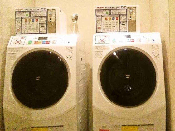 最新式暗証番号対応のドラム式洗濯機