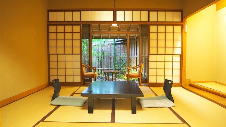竹林に囲まれた趣のある露天風呂付和室8畳(一例)