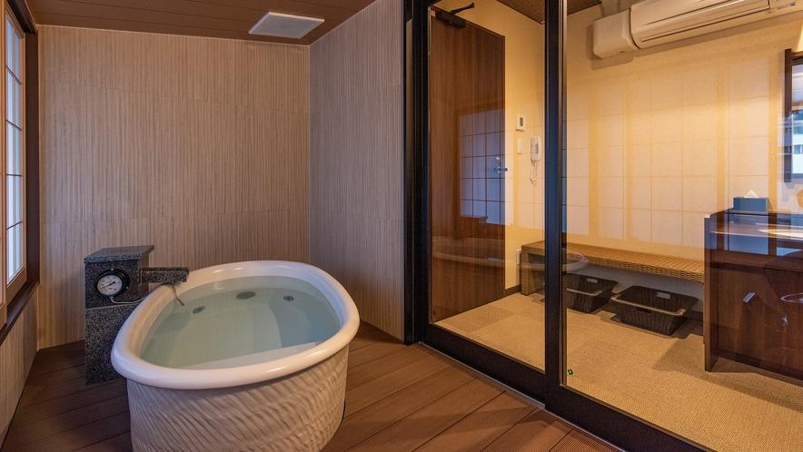 貸切風呂で充実のプライベート空間を・・・(当日予約/有料)