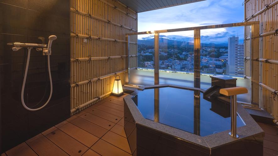 客室露天風呂で充実のくつろぎ時間を…※温泉ではございません