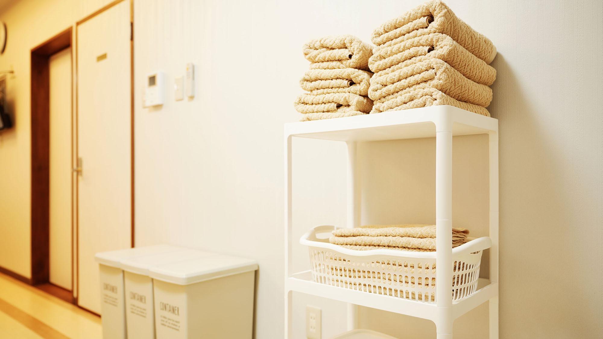 ・201号室:タオルは各部屋にご用意しています