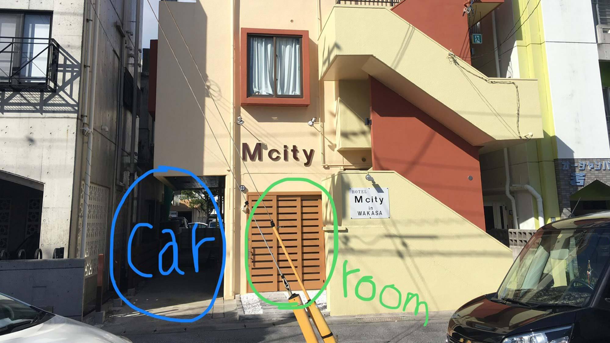 ・<駐車場>建物の左手の駐車場は201号室専用