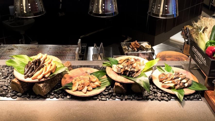 新鮮な魚を使用した寿司や刺身。