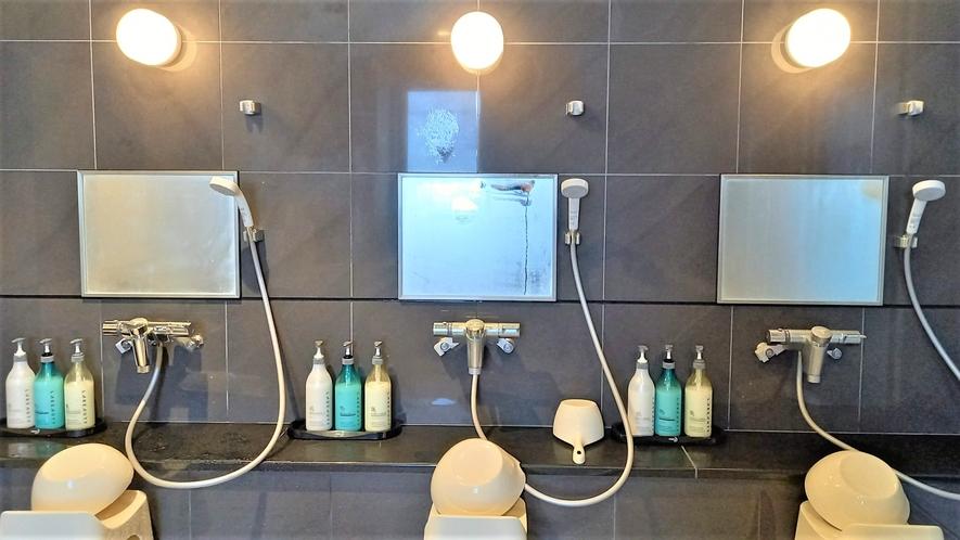 【大浴場】女湯:洗い場