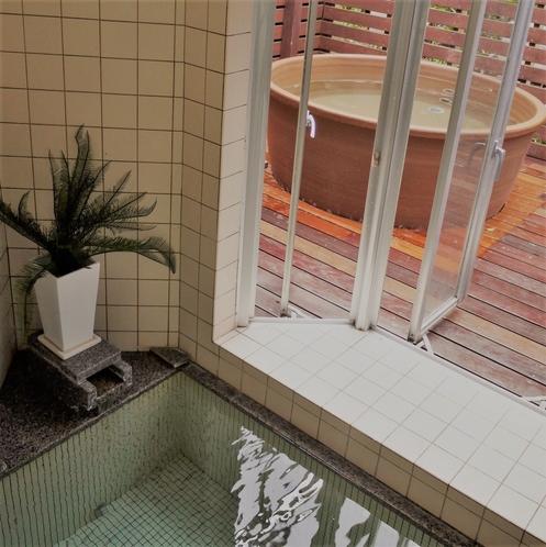 貸切風呂 内湯と露天風呂
