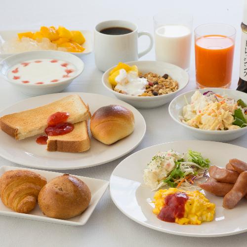 無料朝食バイキング<洋メニュー盛り付け例>