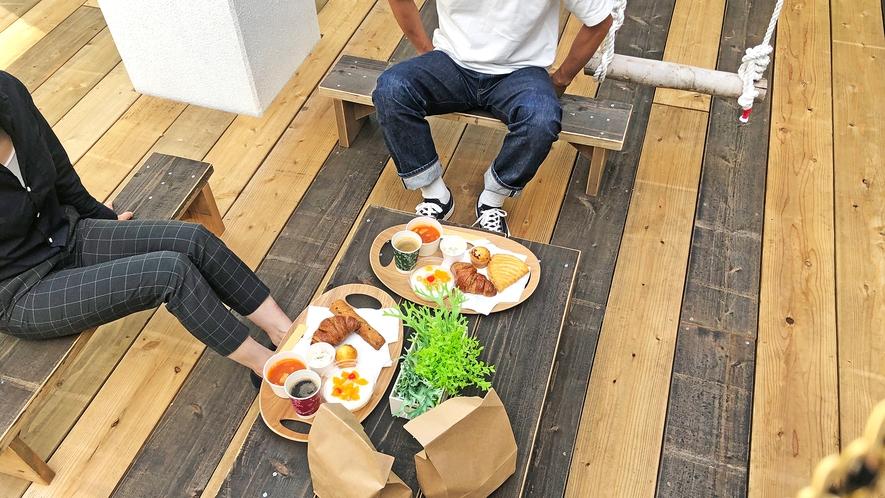 〈朝食〉パンモーニング★お好きな場所でお過ごしください~♬