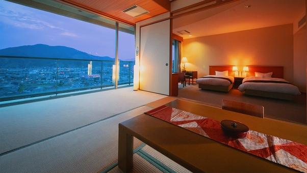 ■和洋室-バスあり-■8畳+ベッド2台