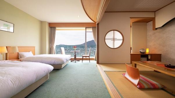 □和洋室-バスなし-□4.5〜6畳+ベッド2台