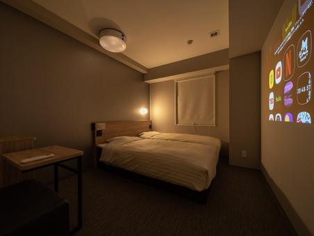 【禁煙】シアターツインルーム【100cm幅ベッド2台】