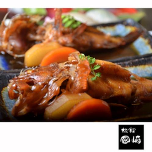 アラカブやがんばの煮つけは人気メニュー