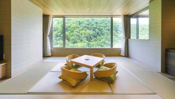 【ビューフロア】客室温泉展望風呂付和洋室(50平米・4名)