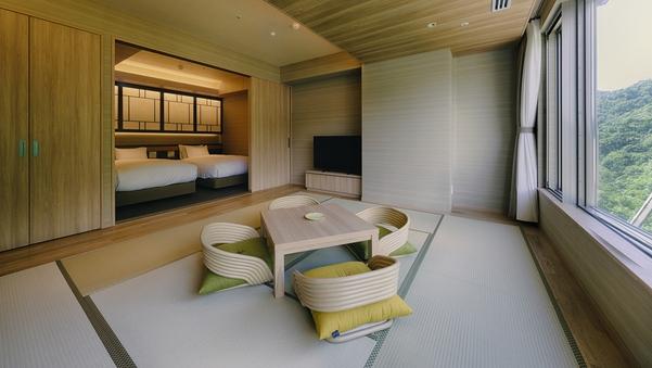 客室温泉展望風呂付和洋室(50平米・定員4名)