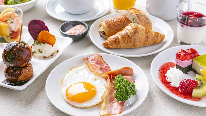 朝食のイメージです。和・洋食、大阪の名物料理もご用意しています。
