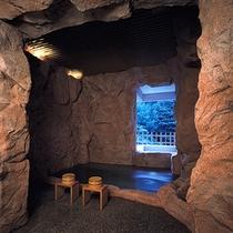 貸切テーマ風呂【洞窟】◆吹き抜ける風が心地よい、半露天風呂タイプです。※1回40分2,160円