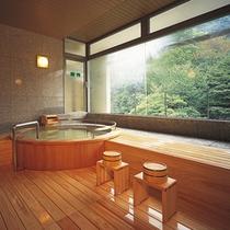 貸切テーマ風呂【檜】◆木の香りと温もりを感じる、人気のお風呂です。※1回40分2,160円