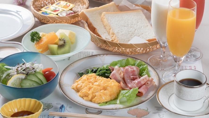 朝食(洋風)◆お部屋食でご希望のお客様には、洋風朝食のご用意も承っております。