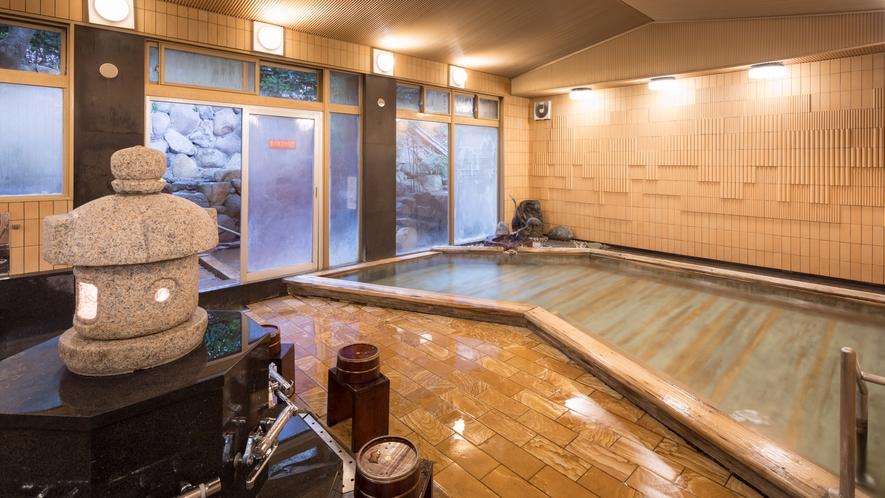 殿方大浴場「鶴の湯」◆ラドン泉の内風呂がございます。