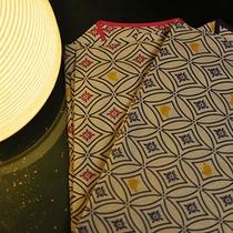 月光園の作務衣◆お部屋には、お浴衣とご一緒に作務衣もご用意しております。ご就寝時にご着用下さいませ。