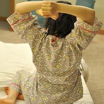 月光園の作務衣◆寝ている時にはだけずに楽ちん♪」と、沢山のお客様からご好評を頂いております。