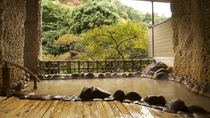 殿方大浴場「金波の湯」◆営業時間:9時~24時/朝6時~8時 ※金泉露天風呂、銀泉、サウナあり