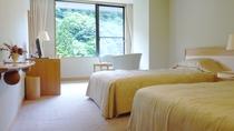 洋室ツインルーム(20.5㎡)◆スタンダードな洋室を3室ご用意しております。