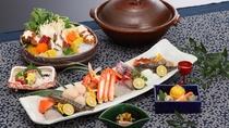 冬季限定海鮮寄せ鍋◆山の幸・海の幸を存分にお楽しみ頂けるお鍋コースです。