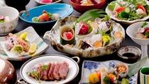 神戸BEEF網焼き付会席◆当館で一番人気の会席料理です。メイン料理はたっぷり120gの神戸牛!