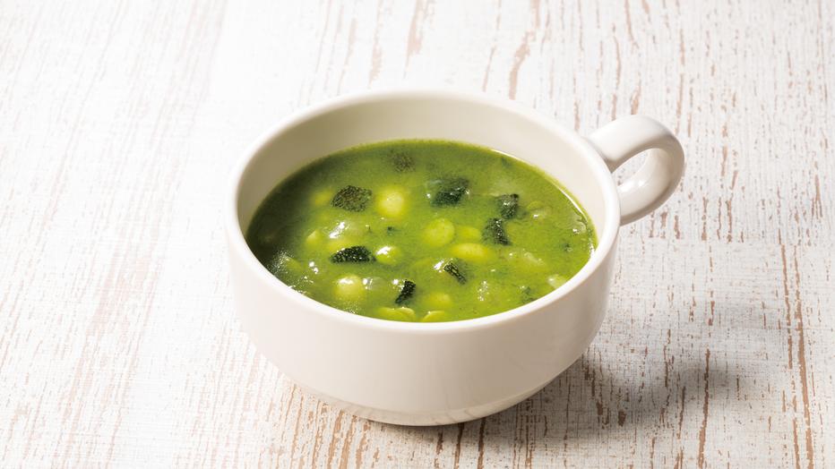 7種の野菜が入った具沢山スープ。優しい味わいが特徴です。