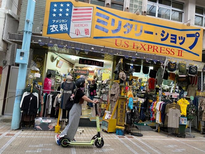 商店街を散策