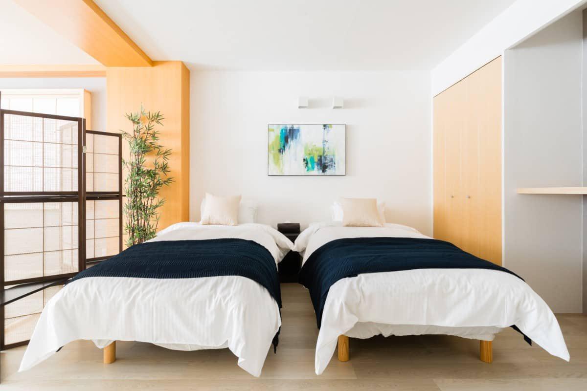 【和洋室】スーペリア4人部屋・シングルベッド2台
