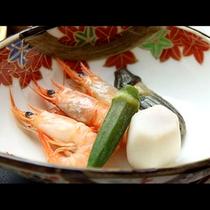 海老と季節のお野菜盛り合わせ