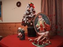 クリスマスサンタの飾り