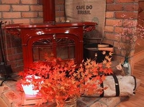 モミジ&暖炉