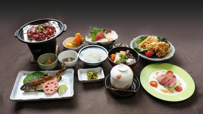 【2食付】選べる「自家製ジビエコース」か「名産・阿波尾鶏コース」☆200年の歴史を持つ名湯も堪能!