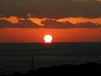 お部屋からの風景例 『夕日(11月〜2月)』