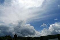 避暑地の夏の空R