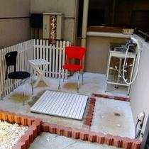 館内施設◆ワンちゃんの足洗い場