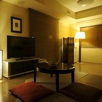 お部屋◆ダブルルームのリビング